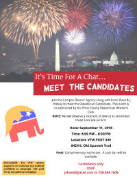Meet the Candidate Flyer